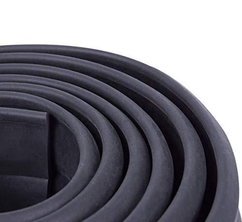 MODAUTO Aleron Delantero de Coche, Pegatina Protector, Parachoques Delantero, Protector Parachoques, Longitud 2.5m, Ancho 60mm, Universal, Modelo F605BK, Negro Puro