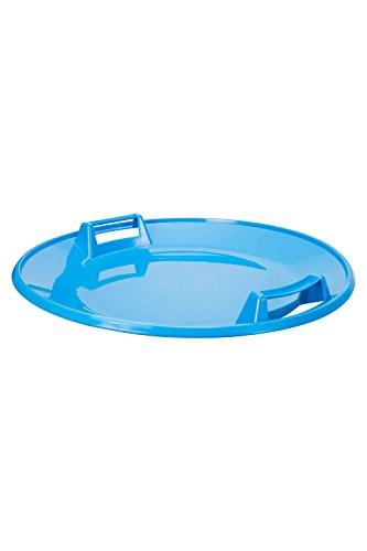 Mountain Warehouse Placa de la Nieve - Disco Volador plástico Durable, Invierno, Disco Brillante del Aire del Color de la Cal, fácil almacenar y fácil Llevar el platillo Azul Talla única