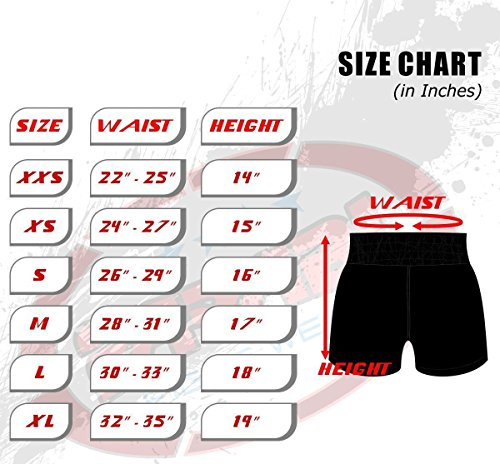 Muay Thai Boxing Kick Boxing Martial Arts Shorts Pink Black Shorts (Medium)