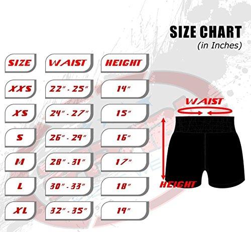 Muay Thai Boxing Kick Boxing Martial Arts Shorts Pink Black Shorts (Small)