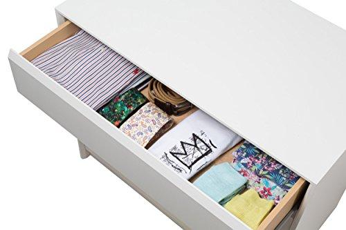 MUEBLECASA - Cajonera montada 4 cajones, madera, 70cm Ancho x 45 cm Fondo x Altura 72 cm, Blanco