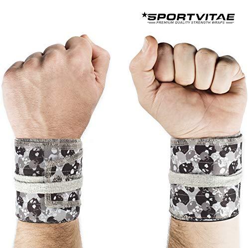 Muñequeras Deportivas Ajustables Tela Ripstop (Anti Rasgaduras) Strength Wrist Wraps Crossfit Powerlifting Bodybuilding Gimnasia Olímpica Hombre Mujer