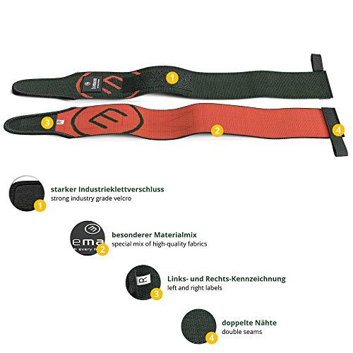 Muñequeras Deportivas Gym Profesionales - 2 Wrist Wraps Straps Resistentes para Levantar de Pesas, Talla Única Ajustable, Hombre Mujer | Halterofilia Fitness Crossfit, Entrenamiento Culturismo