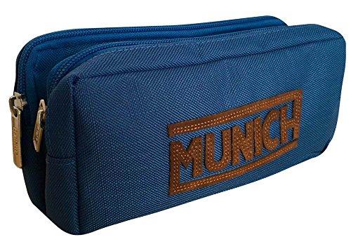 Munich 252824 Leather Neceser, 21 cm, Azul Marino