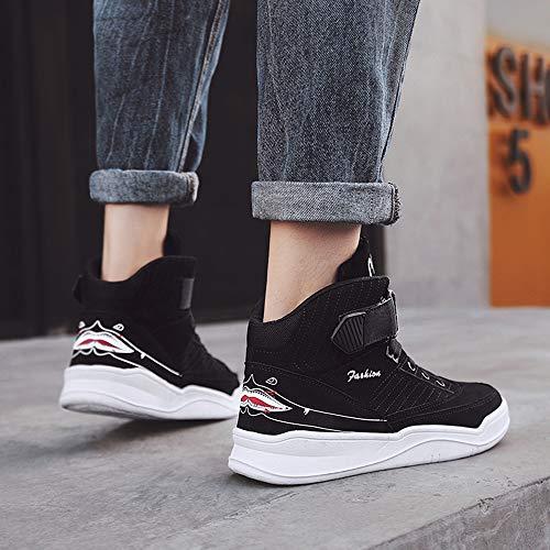MUOU - Zapatillas para hombre con talón plano y alto, color, talla 43 EU
