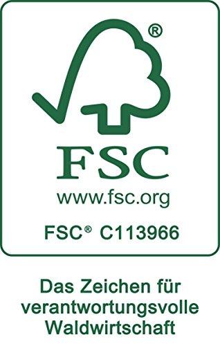 My Home Juego de 3 estanterías de Pared, Color Blanco de Madera con certificación FSC.