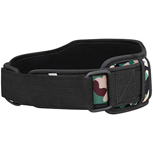 Mytra Fusion Unisex Gym Belt Fitness Belt for Exercise, Weightlifting, Powerlifting, Crossfit Training (Camo Green, Medium)
