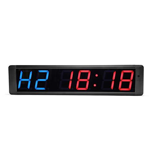 N/ A 4 Pulgadas 6 Digital Led Countdown Timer Cronómetro Reloj de Pared para Gimnasio Fitness Home