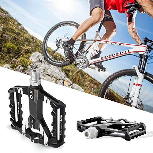 "N-A Pedales MTB Bicicleta Plataforma Bici Montaña BMX Carretera Ciclismo Aleación de Aluminio CNC 9/16"" Rosca de Husillo Antideslizantes Ultraligero Teniendo Sellado Carreras"