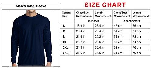 N4690L Camiseta de Manga Larga Born To Ride! Motorcycle Clothing (XXX-Large Negro Multicolor)