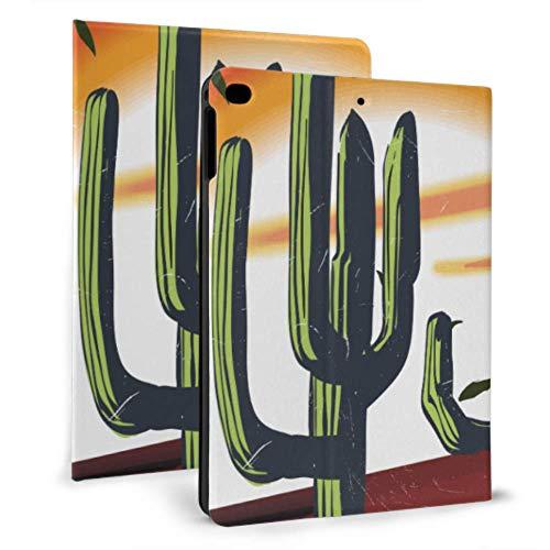 N\A iPad Case Girls Desert Arizona Cactus Ilustración para Indumentaria 309 iPad Cover para niñas para iPad Mini 4 / Mini 5/2018 6th / 2017 5th / Air/Air 2 con Auto Wake/Sleep iPad de protección magn