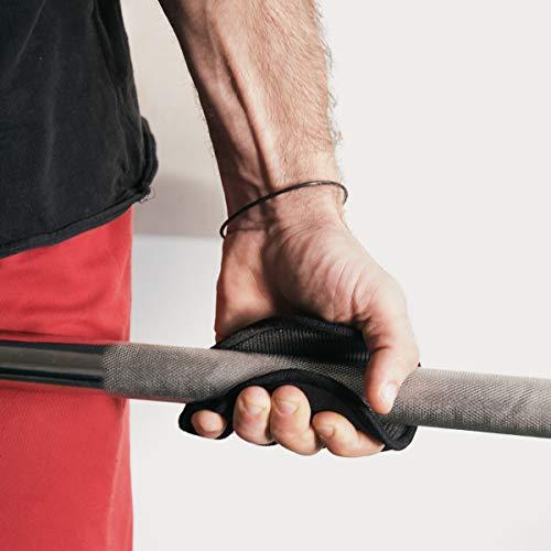Navaris Guantes Acolchados de Entrenamiento - Grip Pad para Crossfit calistenia Halterofilia Culturismo - Almohadillas Antideslizantes Talla única
