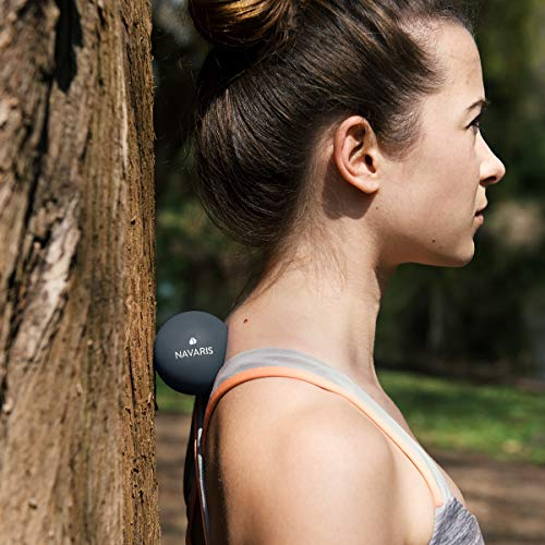 Navaris Set de 2 Bolas para masajes - Bolas de lacrosse para automasajes - 2 Pelotas para fisioterapia crossfit terapia de puntos - Massage Balls