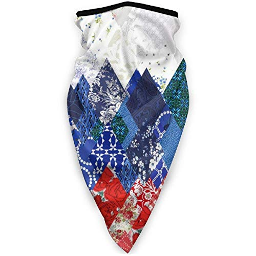 NE Buff Suave a Prueba de Viento, Diadema de pasamontañas de Peso Ligero para Todas Las Actividades Fondos de Bandera Rusa Diamond Flower Trippy Art 6