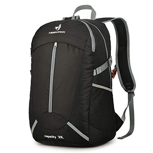 NEEKFOX Mochila de Senderismo Ligera Plegable 30L Viaje Día de Escalada Pack para Hombre Mujer, Peso Ligero Compacta Resistente al Agua Mochila para Deportivas Exterior Acampada