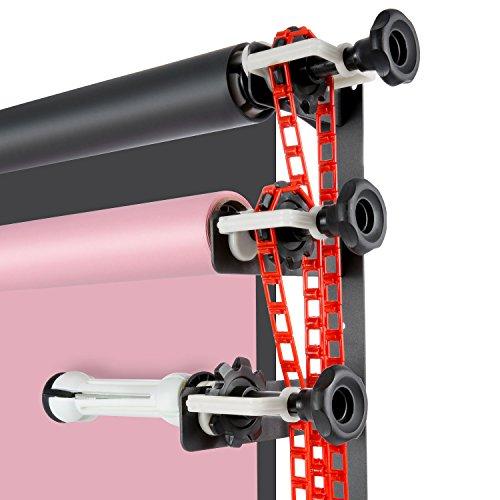 Neewer® - Sistema de Montaje Manual para 4 Rodillos con Fondos para fotografía (Incluye 2 Ganchos de 4 Puntos, 6 Barras, 3 Cadenas y 10 Abrazaderas)