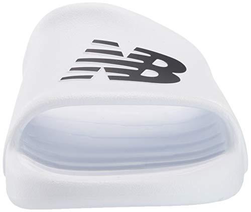 New Balance 100v1, Sandalias para ponerlas Hombre^Hombre, Color Blanco, 45 EU