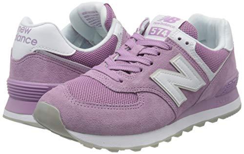 New Balance 574, Zapatillas Clásicas para Mujer, Morado (Canyon Violet with White), 40.5 EU