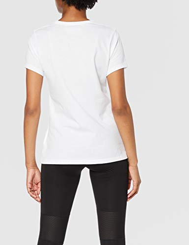 New Balance Core Flying NB Logo Camiseta, Mujer, Blanco, Medium