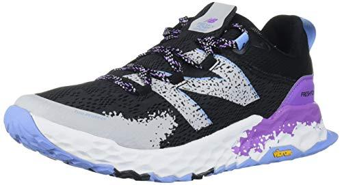 New Balance Hierro V5 Fresh Foam, Zapatillas para Carreras de montaña para Mujer, Negro Neo Violeta, 39.5 EU