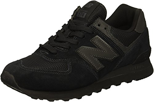 New Balance Hombre 574v2-core Trainers Zapatillas, Negro (Triple Black), 36 EU
