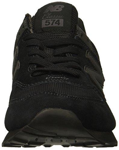 New Balance Hombre 574v2-core Trainers Zapatillas, Negro (Triple Black), 42 EU