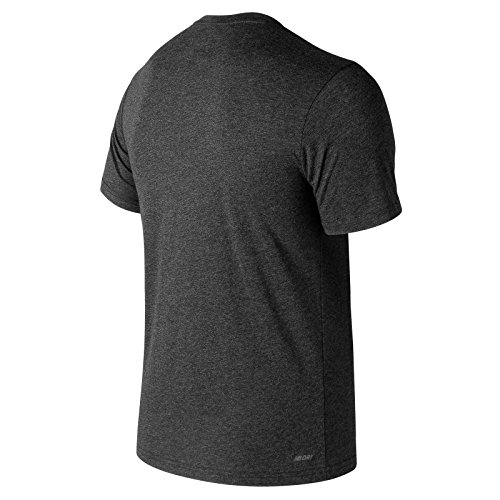 New Balance MC Heather Tec Camiseta Transpirable, Hombre, Negro (Charcoal), S