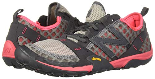 New Balance Women's WT10v1 Minimus Trail Running Shoe, Team Away Grey/Guava, 6.5 W US