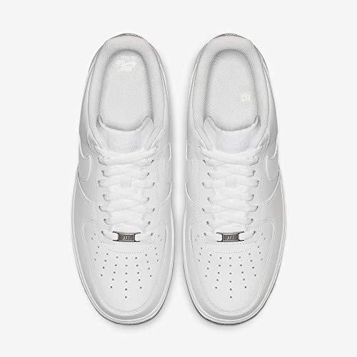Nike Air Force 1 '07, Zapatillas de Deporte Unisex Adulto, Blanco (White/White), 44 1/2 EU