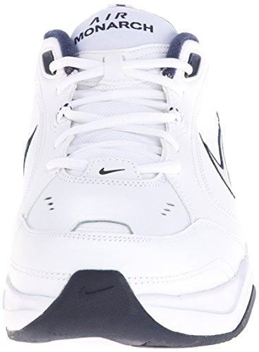 Nike Air Monarch IV, Zapatillas de Gimnasia para Hombre, Blanco (White/Metallic Silver/Midnight Navy 102), 44 EU