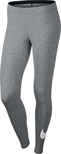 NIKE Club Logo2 Pantalón, Mujer, Multicolor (Dk Grey Heather/White/White), S