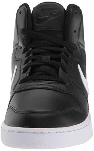 Nike Ebernon Mid, Zapatillas Altas para Hombre, Negro (Black/White 002), 44 EU