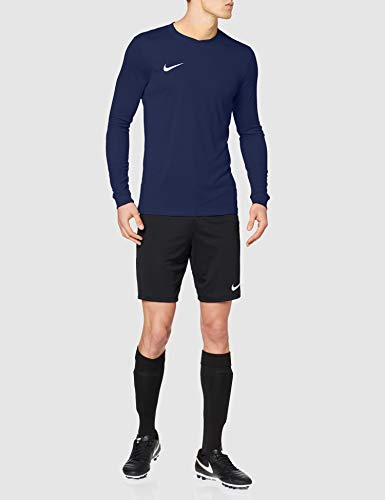 Nike LS Park Vi Jsy - Camiseta para hombre, color azul marino / blanco (midnight navy / white), talla S