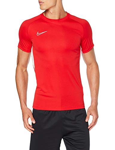 NIKE M NK Dry Acdmy Top SS Camiseta de Manga Corta, Hombre, Rojo (University Red/White/White), L