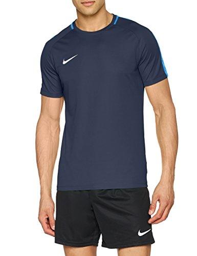 NIKE M NK Dry Acdmy18 Top SS T-Shirt, Hombre, Obsidian/Royal Blue/White, M
