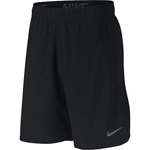 NIKE M Nk FLX Short Woven 2.0 Sport Shorts, Hombre, Black/(Dark Grey), L