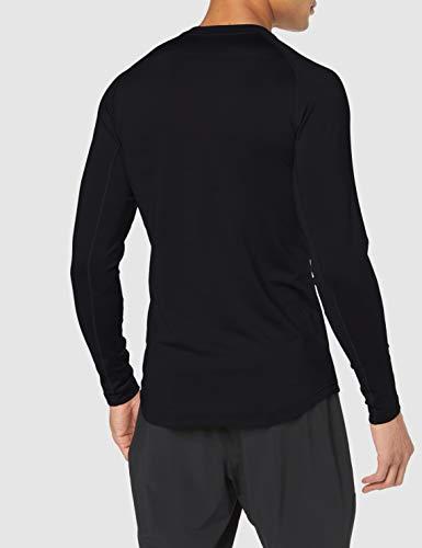 NIKE M NP Thrma Top LS Camiseta de Manga Larga, Hombre, Black/Black/(Dark Grey), L