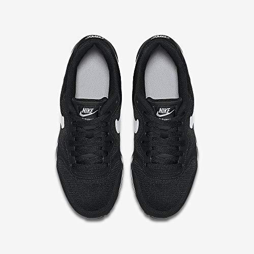 Nike MD Runner 2 (GS), Zapatillas de Running para Hombre, Negro (Black/Wolf Grey/White), 38 EU