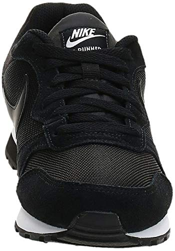 Nike MD Runner 2, Zapatillas de Running Mujer, Negro (Black / Black-White), 39 EU