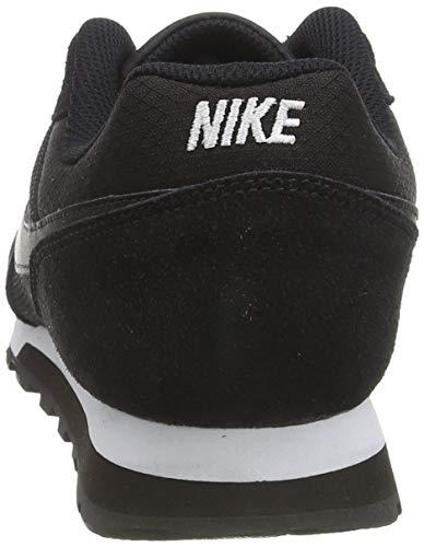Nike MD Runner 2, Zapatillas de Running Mujer, Negro (Black / Black-White), 40.5