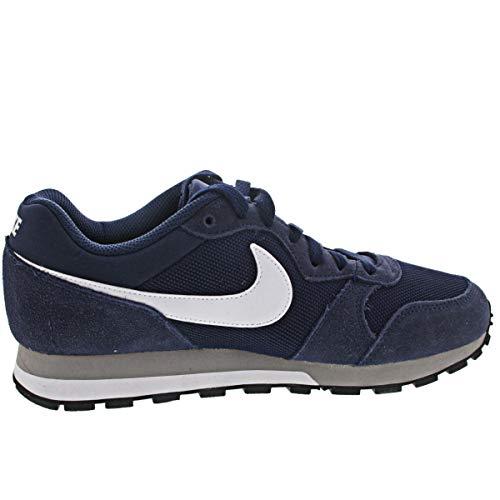 Nike MD Runner 2, Zapatillas para Hombre, Midnight Navy/White/Wolf Grey, 43 EU