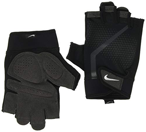Nike Men's Ultimate Fitness Gloves Guantes, Hombre, Negro / Antracita / Blanco, M