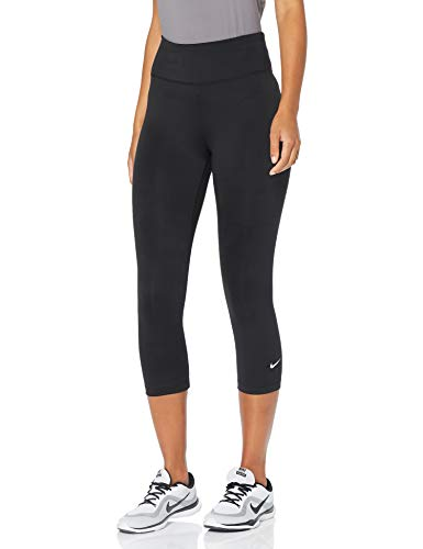 NIKE One Ladies Capris Leggings, Mujer, Negro (Black/White), S