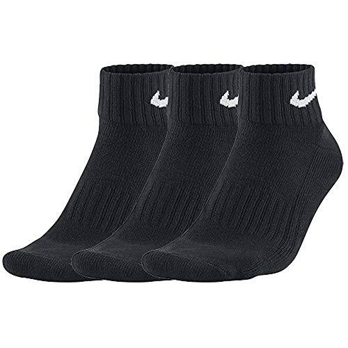 Nike One Quarter Socks 3PPK Value Calcetines para Hombre, Negro (BLACK/WHITE), 38-42