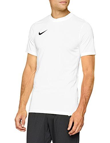 Nike Park VI Camiseta de Manga Corta para hombre, Blanco (White/Black), L