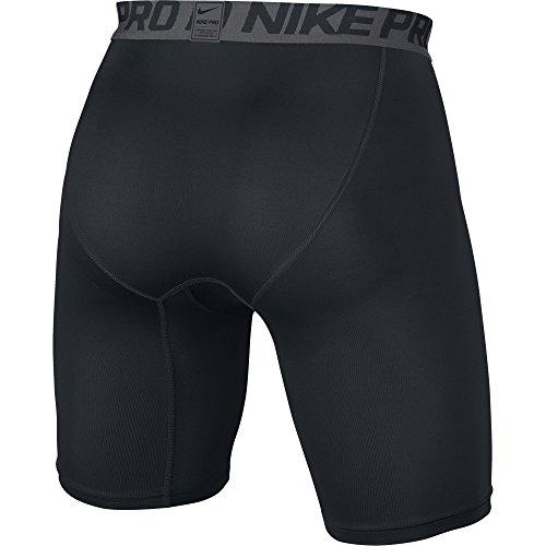 "Nike Pro 6"" - Pantalón corto para hombre, color Negro (Black/Dark Grey/White), talla M"