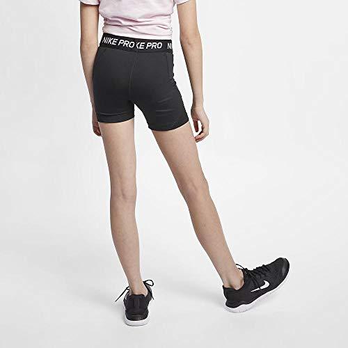 NIKE Pro Boy Short Pantalones Cortos, Niñas, Negro (Black/Black/Black/White), S (128-137 CM)