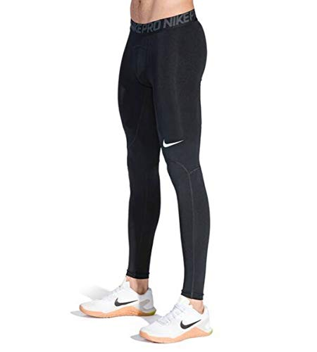 NIKE Pro Tights Leggins, Hombre, Negro (Black/Anthracite/White), S