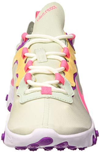 Nike React Element 55 Women's Shoe, Zapatillas para Correr para Mujer, Pistachio Frost/Digital Pink, 37.5 EU