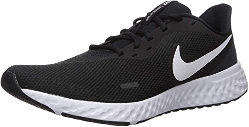 Nike Revolution 5, Zapatillas de Atletismo para Hombre, Multicolor (Black/White/Anthracite 002), 44 EU